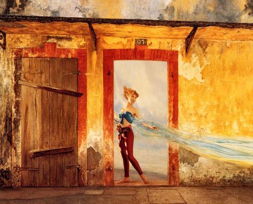 Жак Левеилл. Девушка с длинной шалью