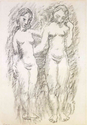 Pablo Picasso. Two naked girls