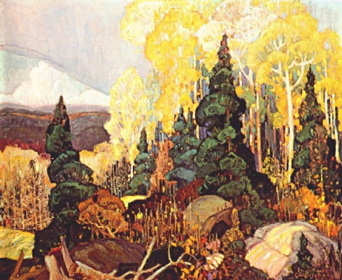 Джон Кармайкл. Осенний склон холма