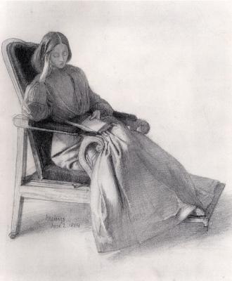 Dante Gabriel Rossetti. Elizabeth Siddal reading