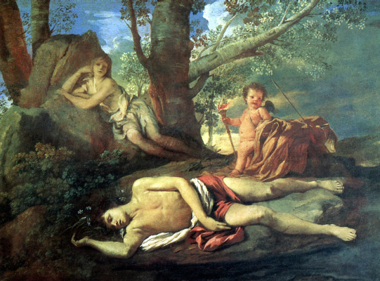 Nicola Poussin. Narcissus and Echo