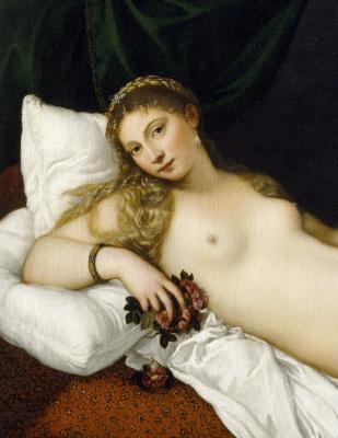 Венера Урбинская. Фрагмент