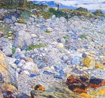 Childe Hassam. Rocky beach, Appledore