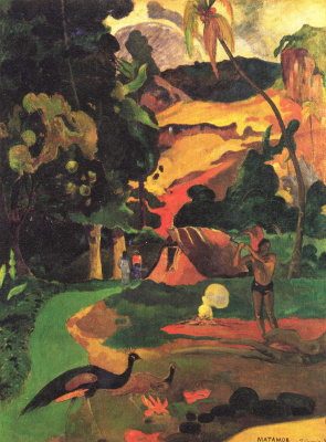Поль Гоген. Пейзаж с павлинами. MATAMOE (Смерть)