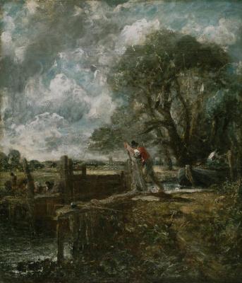 John Constable. Gateway. Sketch