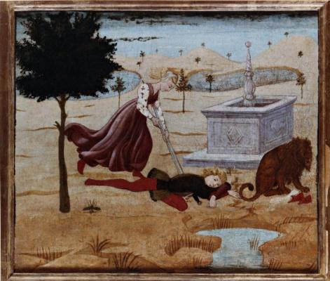 Аполлонио ди Джованни. Смерть Пирама и Фисбы