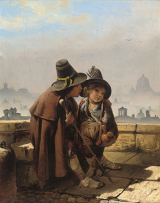 Timofey Andreevich Neff. Italian street children.