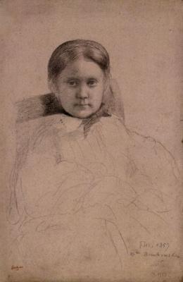 Edgar Degas. Portrait of Mademoiselle Dembowski