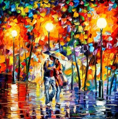 Leonid Afremov. In the rain