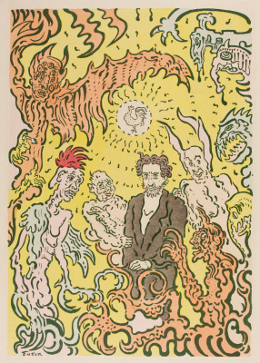 James Ensor. The artist surrounded by evil spirits