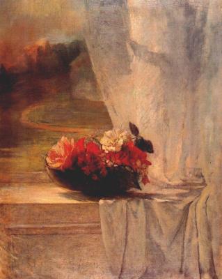 Ла Фарж. Цветы на подоконнике