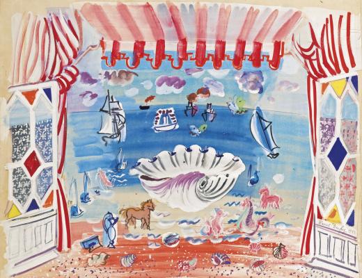 "Raoul Dufy. The decor for the ballet ""palm beach"""
