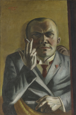 Макс Бекман. Автопортрет с сигаретой
