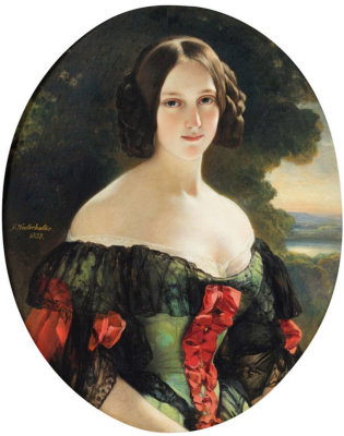 Franz Xaver Winterhalter. Portrait of Anna Berthier, Countess of Plaisance