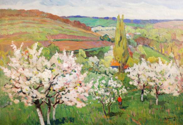 Моисей Файбович Гантман. Цветущие деревья