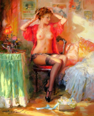Constantine Razumov. The girl in the red.