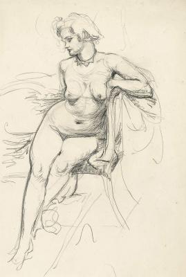 Watson George Spencer. Sketch Nude.