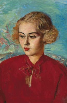 Борис Дмитриевич Григорьев. Женщина в красном