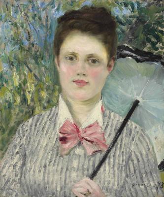 Pierre-Auguste Renoir. Woman with umbrella