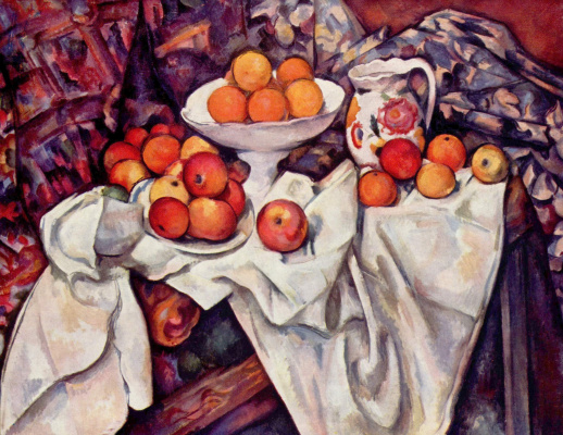 Paul Cezanne. Still life with apples and oranges