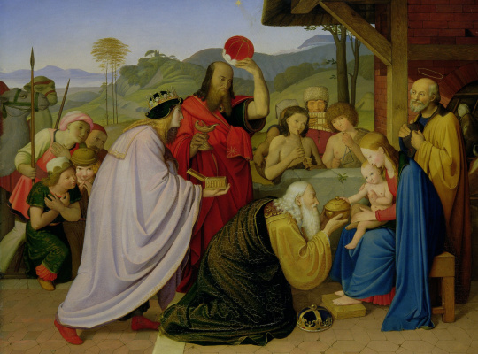 Johann Friedrich Overbeck. The adoration of the Magi