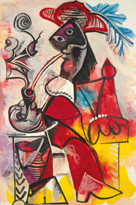 Pablo Picasso. Musketeer with pipe