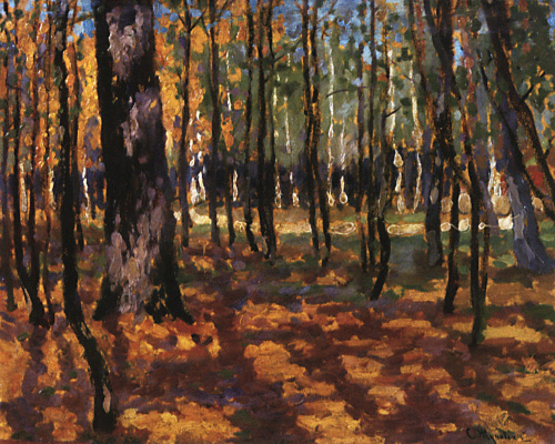 Stanislav Yulianovich Zhukovsky. Landscape. Forest
