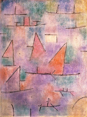 Paul Klee. Harbor with sailboats