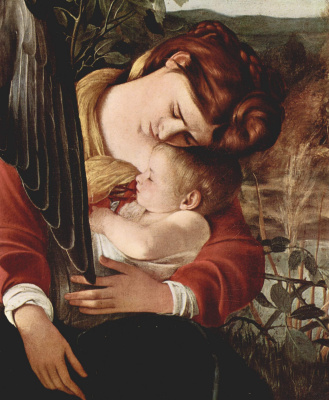 Michelangelo Merisi de Caravaggio. Rest on the flight into Egypt. Fragment