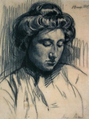 Зинаида Евгеньевна Серебрякова. Портрет М. Е. Лансере, сестры художницы