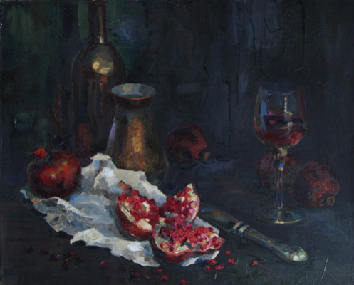 Svetlana Holodnyak. Still Life with Pomegranate
