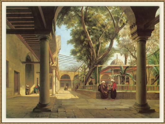 Дурхеим. Интерьер во дворе одной из мечетей Стамбула