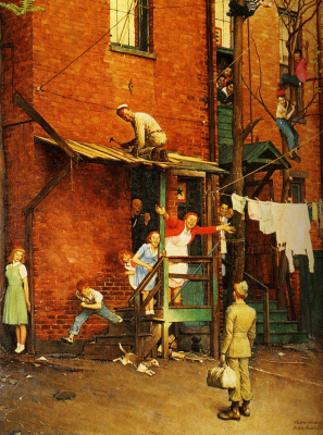 Norman Rockwell. Homecoming G. I.