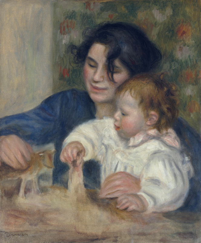 Pierre-Auguste Renoir. Gabrielle and Jean