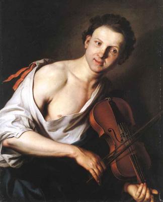 Иоганн Купецкий. Молодой человек со скрипкой