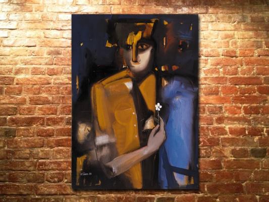 "Сурен (Суро) Григорьевич Мкртчян (Мкртичян). ""Нарцисс"" 1998, хм, 110х80"