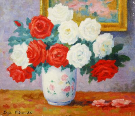 Sofia Yulianovna Albinovskaya-Minkevich. Still life, flowers