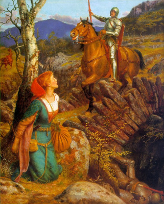 Arthur Hughes. Overthrow of the Rusty Knight