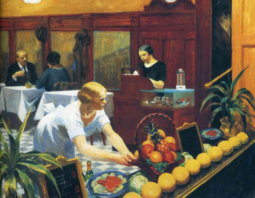 Edward Hopper. Tables for ladies