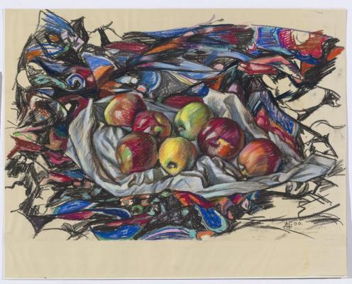 Дурды Байрамович Байрамов. Still life - apples