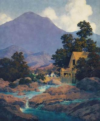 Maxfield Parrish. Old mill