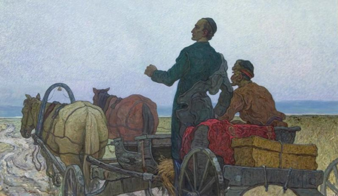 Ismagil Mintagirovich Khalilullov. Arrival of Tukay to Kazan