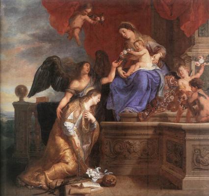 Гаспар де Крауер. Коронация Св. Розалии
