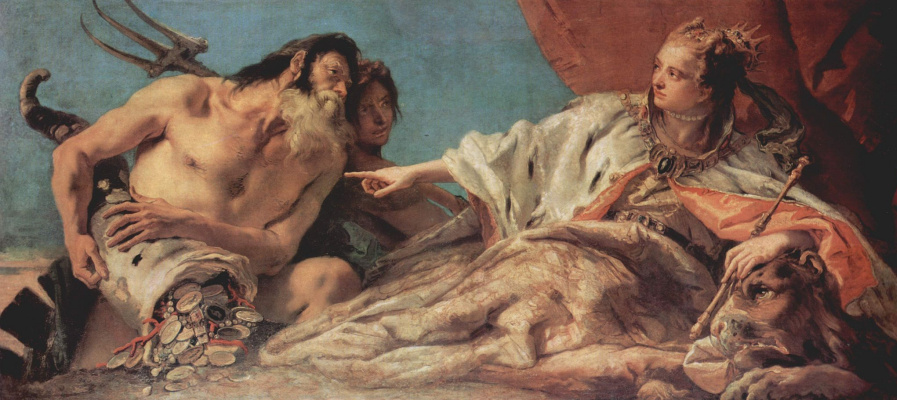 Giovanni Battista Tiepolo. Neptune brings sacrificial gifts to Venice
