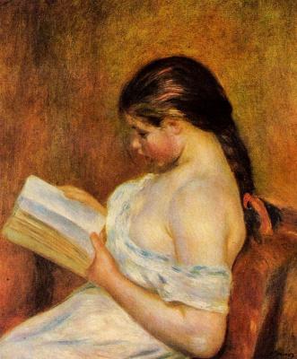 Пьер Огюст Ренуар. Читающая молодая девушка