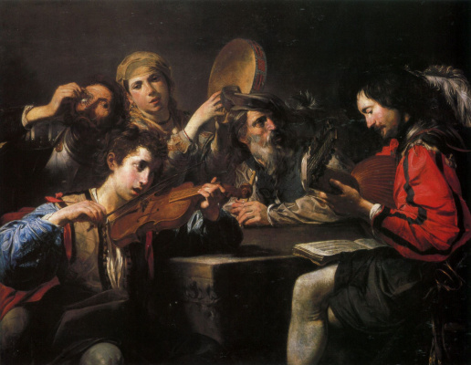 Valentine de Boulogne. Concerto for four characters and drunks