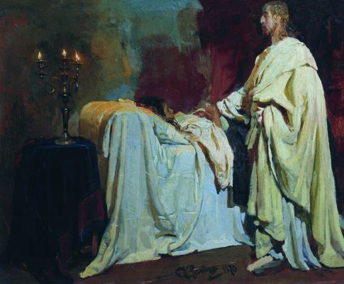 Ilya Efimovich Repin. Resurrection of the daughter of Jair. Etude