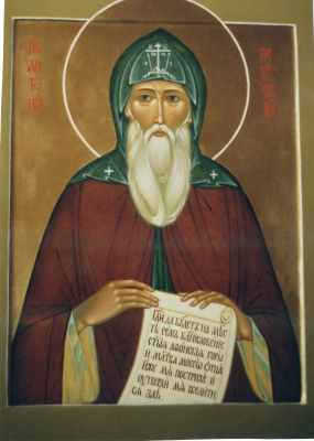 Irina Alexandrovna Ivanova. Icon of the Rev Anthony Pechersky