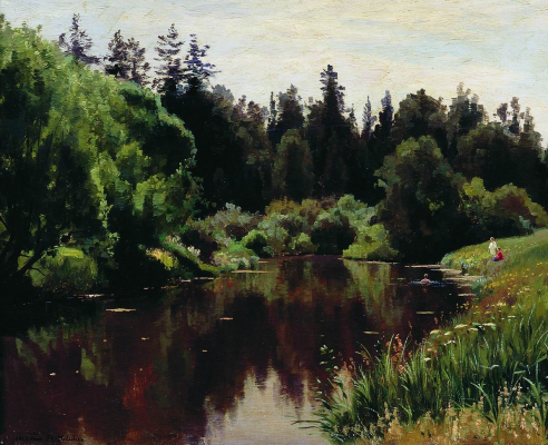 Joseph Evstafievich Krachkovsky. Pond in Pavlovsk. Stavropol Regional Museum of Fine Arts.