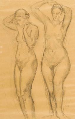 Cuno Amiè. Two naked women